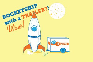 Rocketship with Trailer! WOW!