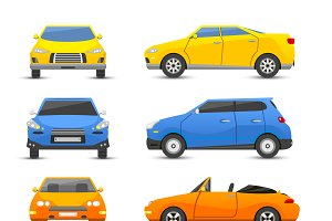 Different car vehicle type vector