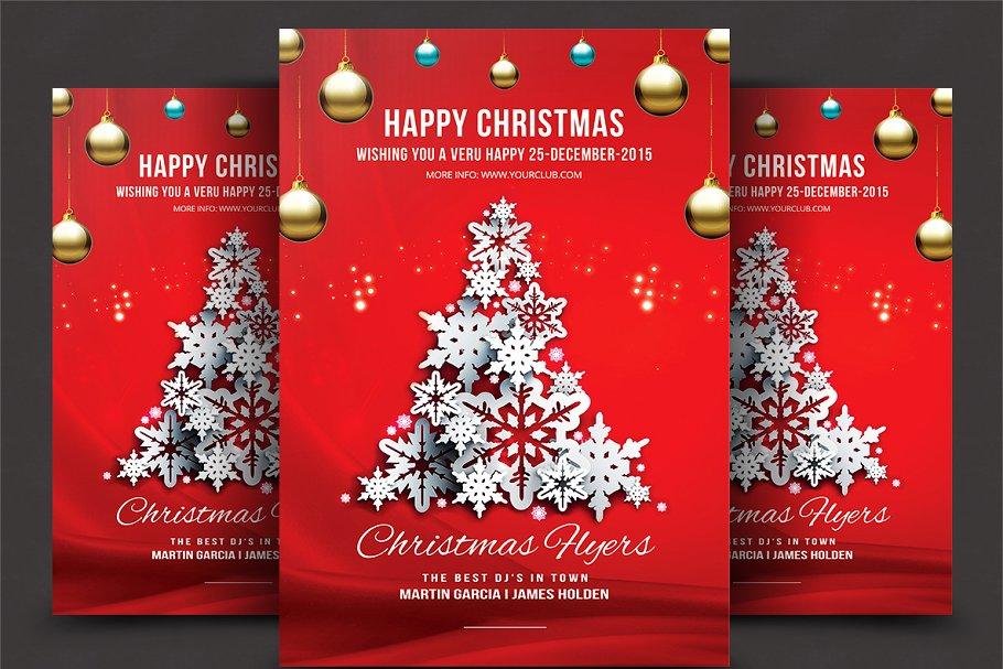 Christmas Flyers.Christmas Flyer Flyer Templates Creative Market