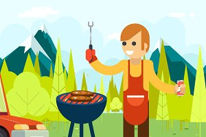 Barbecue cook