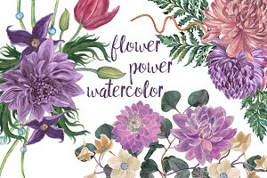 Flower power watercolor