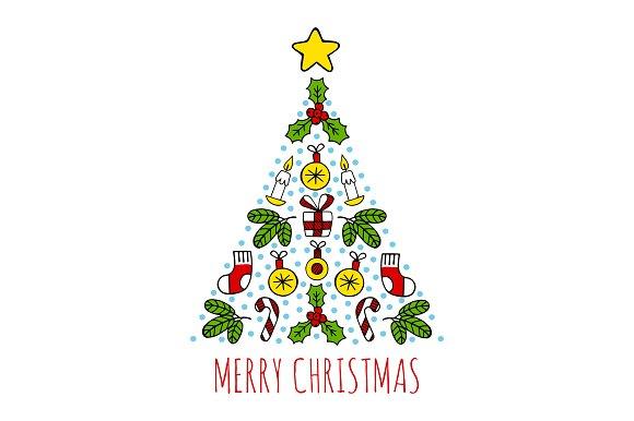 Chrismas tree. Merry chrismas