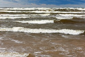 The storm in the Baltic Sea