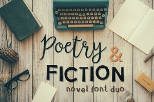 Poetry&Fiction novel font duo