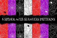 Spider web seamless pattern. EPS+JPG
