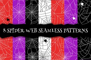 Spider web seamless pattern. EPS+JPG