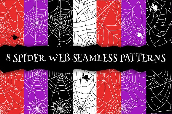 Spider web seamless pattern. EPS+JPG - Patterns