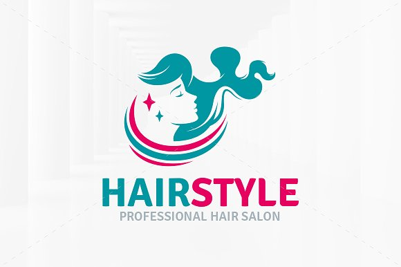 hairstyle salon logo template logo templates creative market