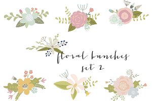 Flower bouquets clip art