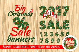 Big Christmas Sale Set of Elements