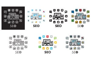 SEO icons design