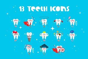 13 Teeth Icons