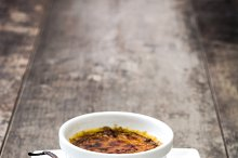 Traditional French creme brulee
