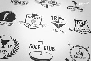 Golf Club Vector Badges Logos