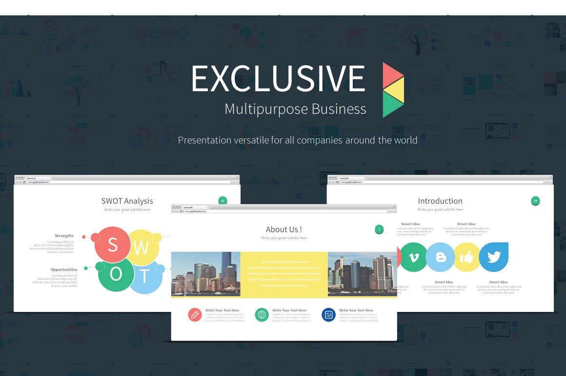 Exclusive presentation powerpoint presentation templates exclusive presentation powerpoint presentation templates creative market toneelgroepblik Image collections