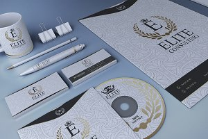 Gold And White Corporate Identity