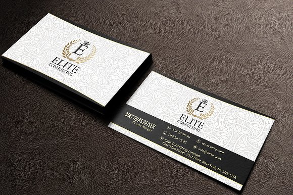 Gold and white business card business card templates creative market colourmoves