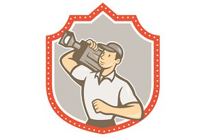 Cameraman Vintage Film Movie Cam