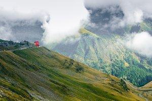 Villa on mountain peak