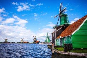 Dutch windmills in Zaandam