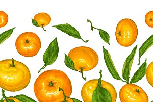 Patterns with mandarins.