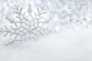 Snowflake and christmas background 2