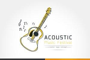 stylized image of Acoustic guita