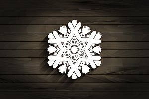 Set of beautiful snowflakes