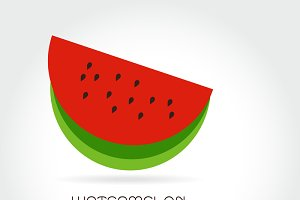 Vector logo watermelon