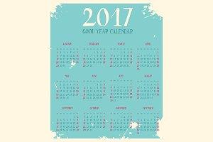Good year calendar 2017
