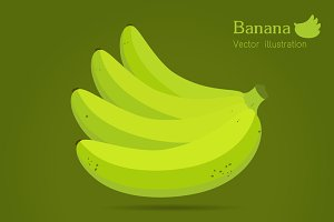 green Banana isolated