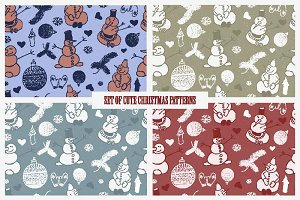 Set of cute Christmas patterns