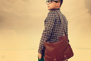 fashionable guy hipster