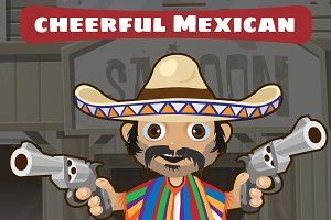 Mexican man with gun, Wild West