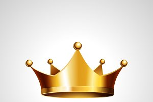 Gold crown - vector icon