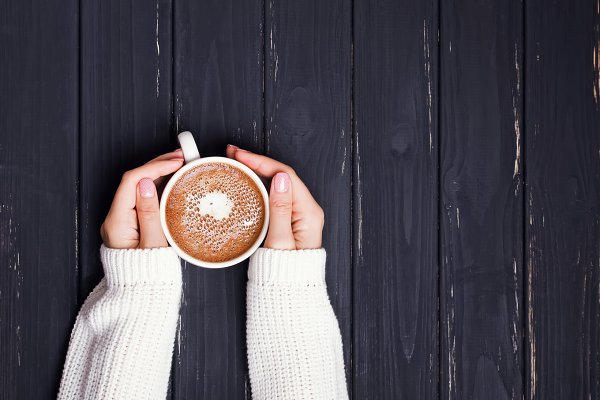 Hands and coffee