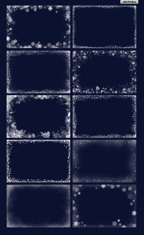 20 christmas photo overlays layer styles creative market