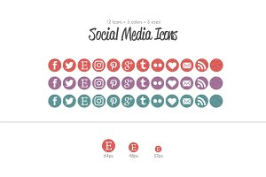 Sweet Glitter Social Media Icons