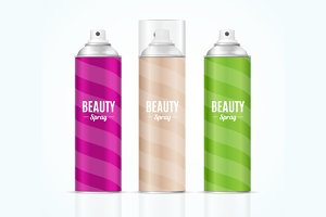 Beauty Spray Can Set.