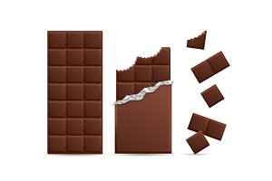 Chocolate Bar Bitten with Pieces