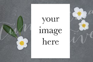 Greeting Card Mockup Portrait #0787