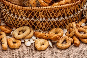 Baked bread bun