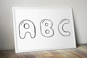 Doodle english alphabet. Hand drawn