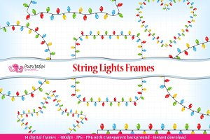 String Lights Frames clipart