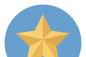 Yellow star icon