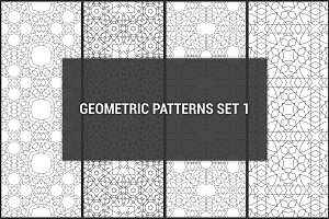 Geometric seamless patterns set 1