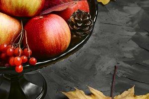 Apple and viburnum