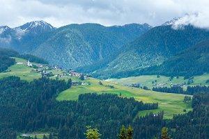 Dolomites mountain summer view