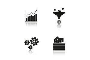 Business. 4 icons. Vector