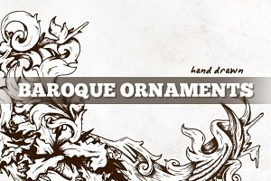 Hand Drawn Vector Baroque Elements